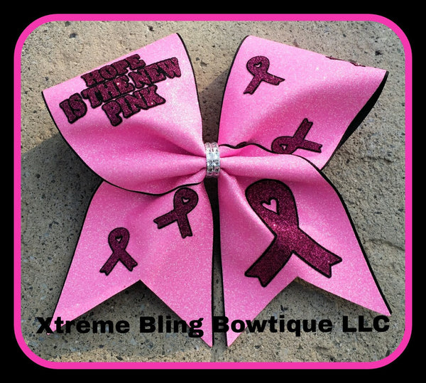 Cheer Bow-Cancer Awareness