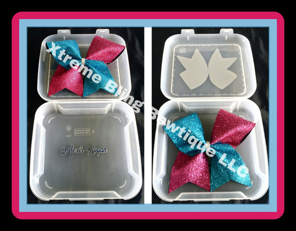 Cheer Bow Box--Act Like a Lady Cheer Like a Boss With Rhinestones