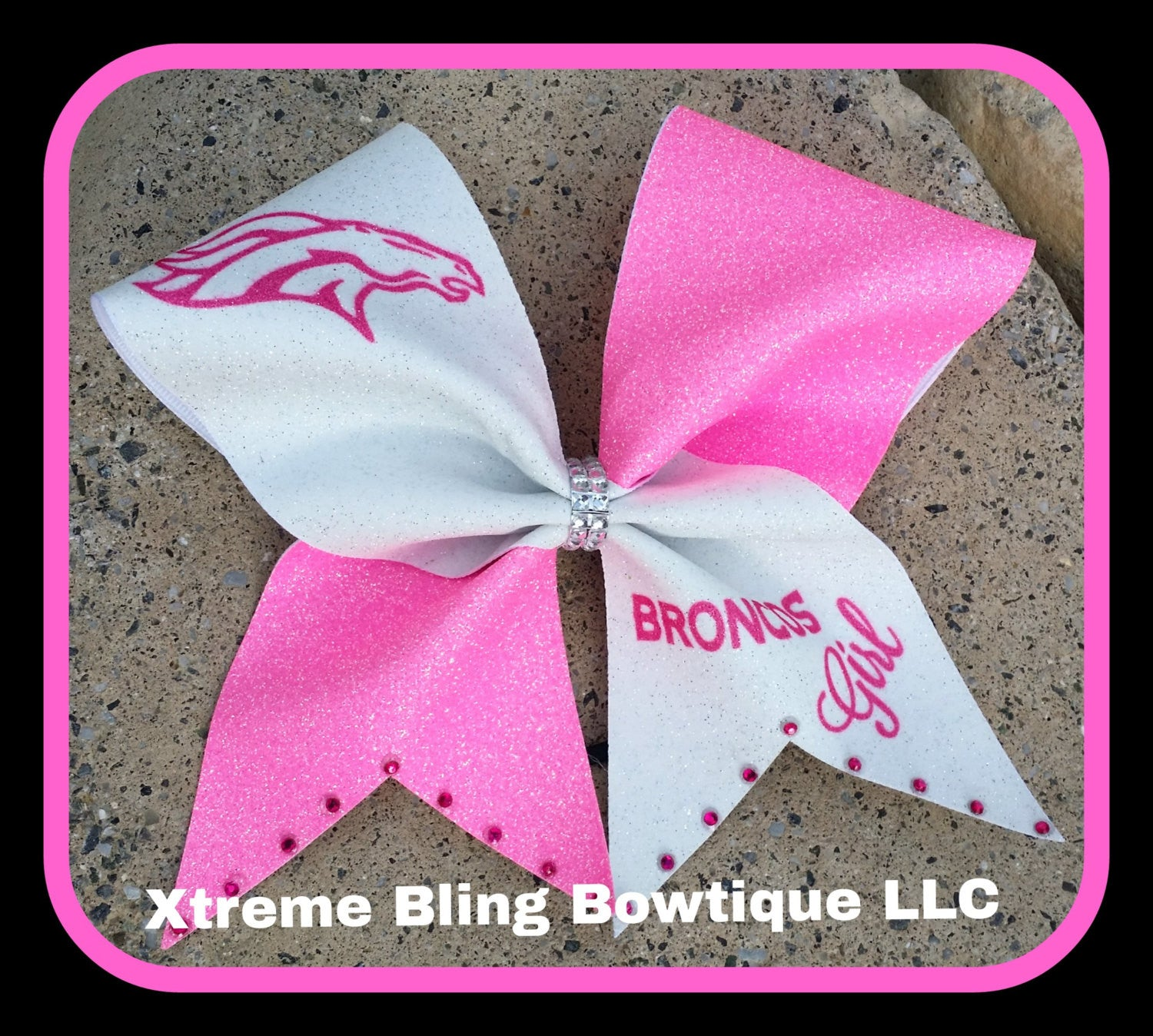 Cheer Bow-Broncos Girl 2