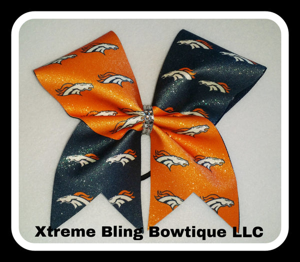 Cheer Bow --Denver Bronco Cheer Bow