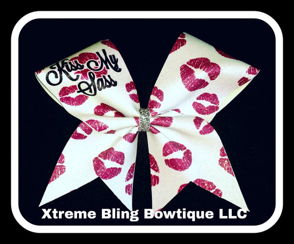 Cheer Bow --Kiss My Sass Cheer Bow