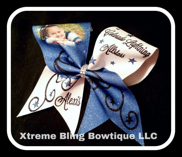 Cheer Bow --Custom Photo Cheer Bow