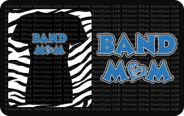 Band Mom TShirt with Rhinestones