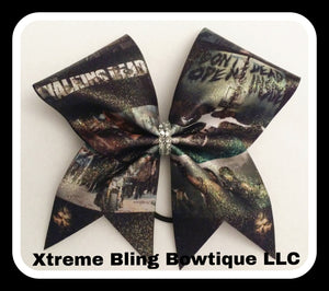 Cheer Bow --walking Dead Cheer Bow
