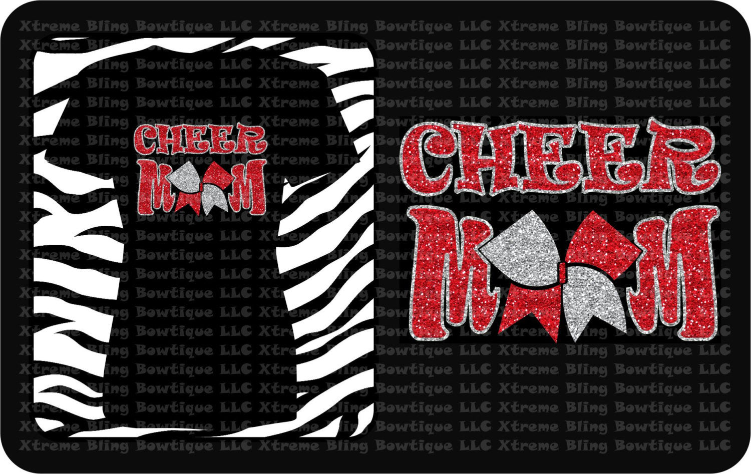 Cheer Mom- Cheer Shirt with Glitter Vinyl