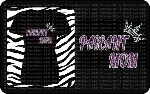 Pageant Mom- Pageant Shirt with Glitter Vinyl and Rhinestones