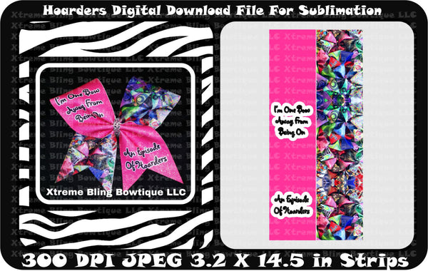 Hoarders Sublimation Cheer Bow Strips Download