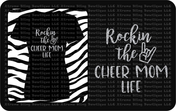 Rockin the Cheer Mom Life-Cheer Shirt with Glitter Vinyl