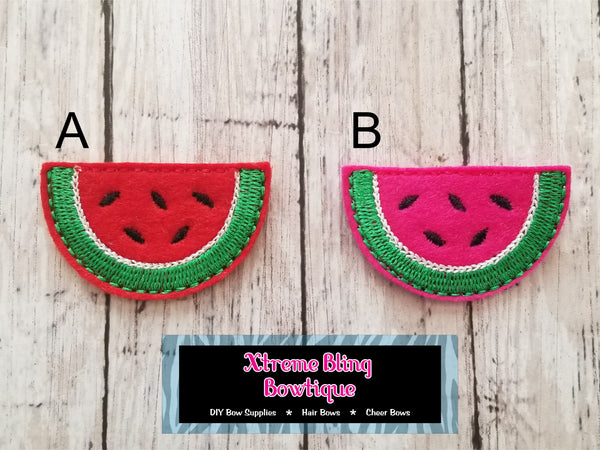 Watermelon Felt Bow Center