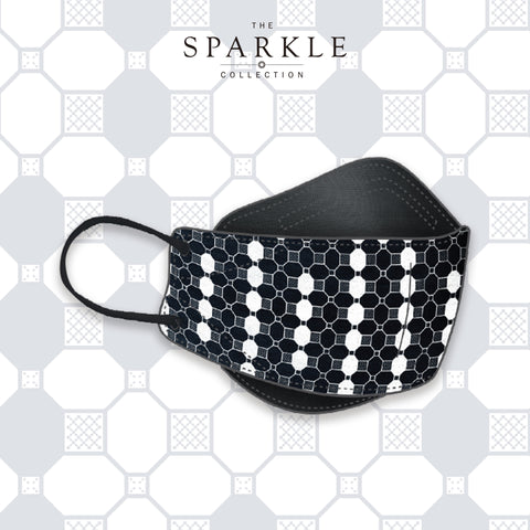 TILE | Designer Mask | SPARKLE BY KAREN CHAN x masklab®️ fashion mask