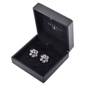 【PEONY】925 Sterling Silver Earrings with Crystal Pearls - THE SPARKLE COLLECTION by GERMAN POOL