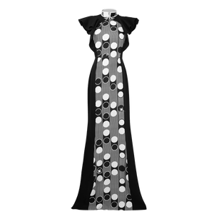 【PEARL OF HK】Haute Couture 100% Silk Crystal Evening Gown - THE SPARKLE COLLECTION by GERMAN POOL
