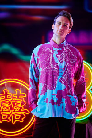 【MAP OF HK】100% Silk Tang Jacket - THE SPARKLE COLLECTION by GERMAN POOL