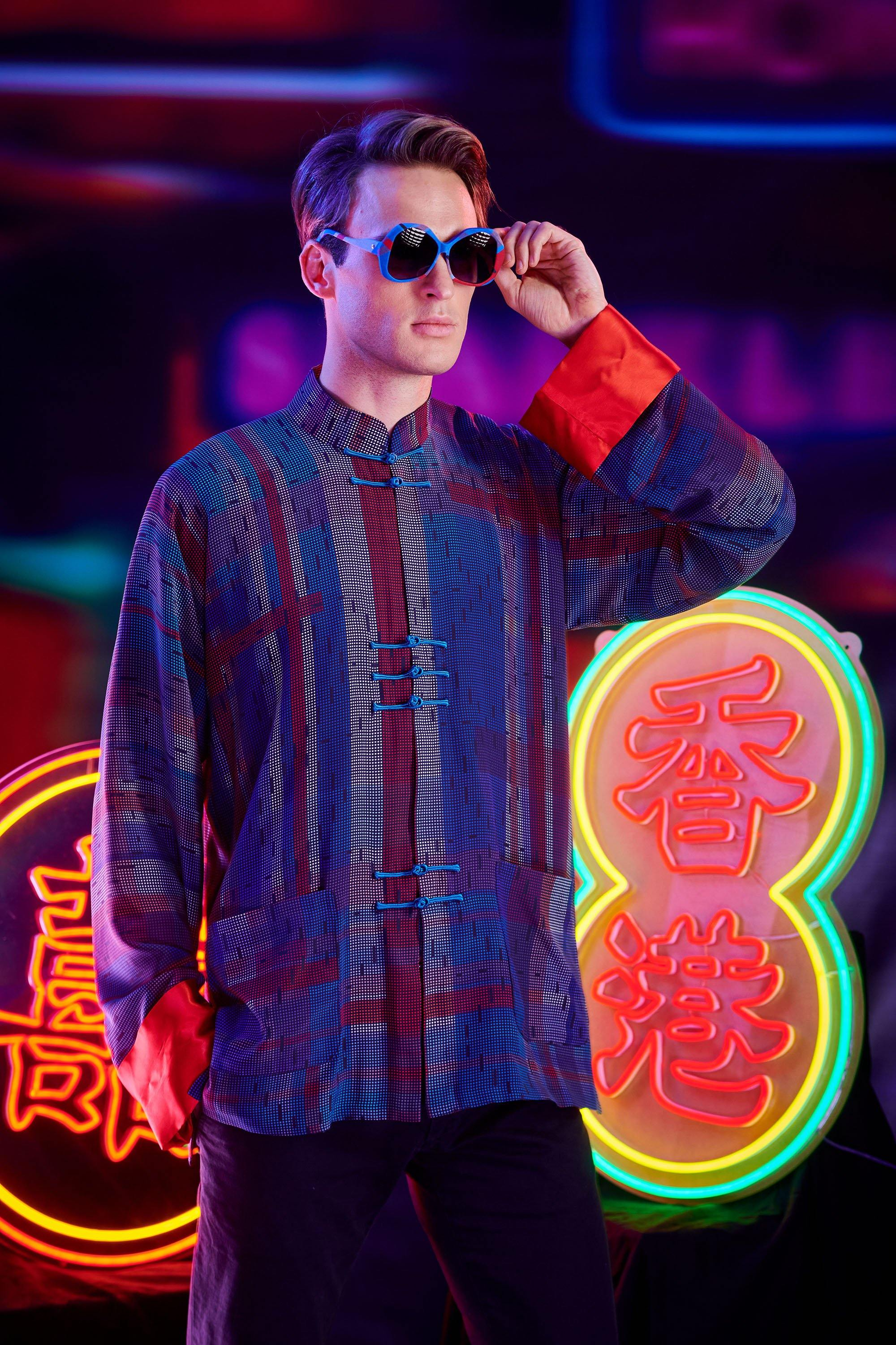 【HK SPIRIT】100% Silk Tang Jacket - THE SPARKLE COLLECTION by GERMAN POOL