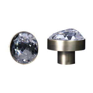【NAUTILLIA】Bronze Knob and Handle with Swarovski® Crystal - THE SPARKLE COLLECTION by GERMAN POOL