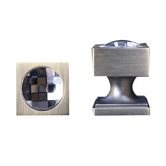 【DOTTY】 Bronze Knob and Handle with Swarovski® Crystal