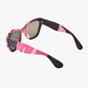 【BAUHINIA】Hand-made 100% Silk-wrapped Sunglasses UV400 - THE SPARKLE COLLECTION by GERMAN POOL