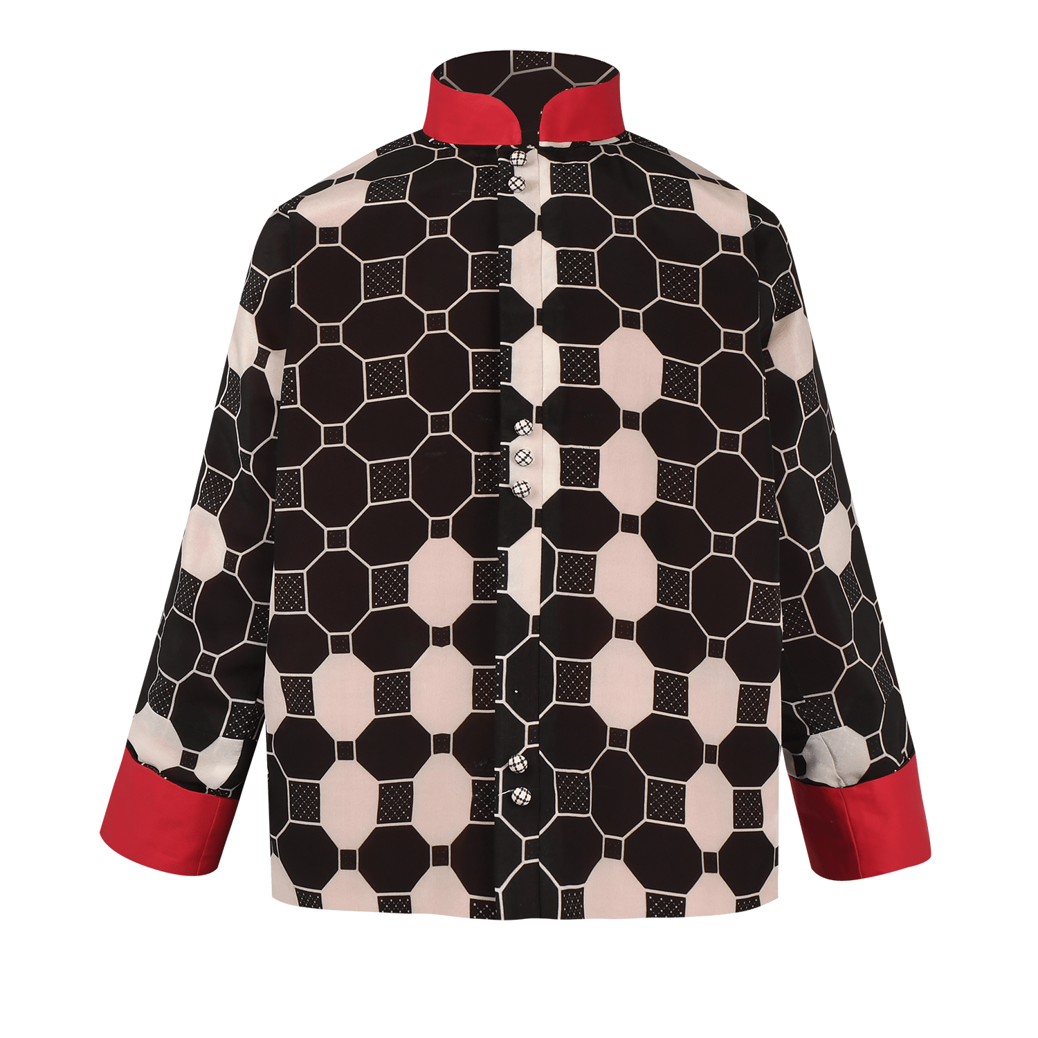 【TILE】100% Silk Reversible Tang Jacket-Junior - THE SPARKLE COLLECTION by GERMAN POOL