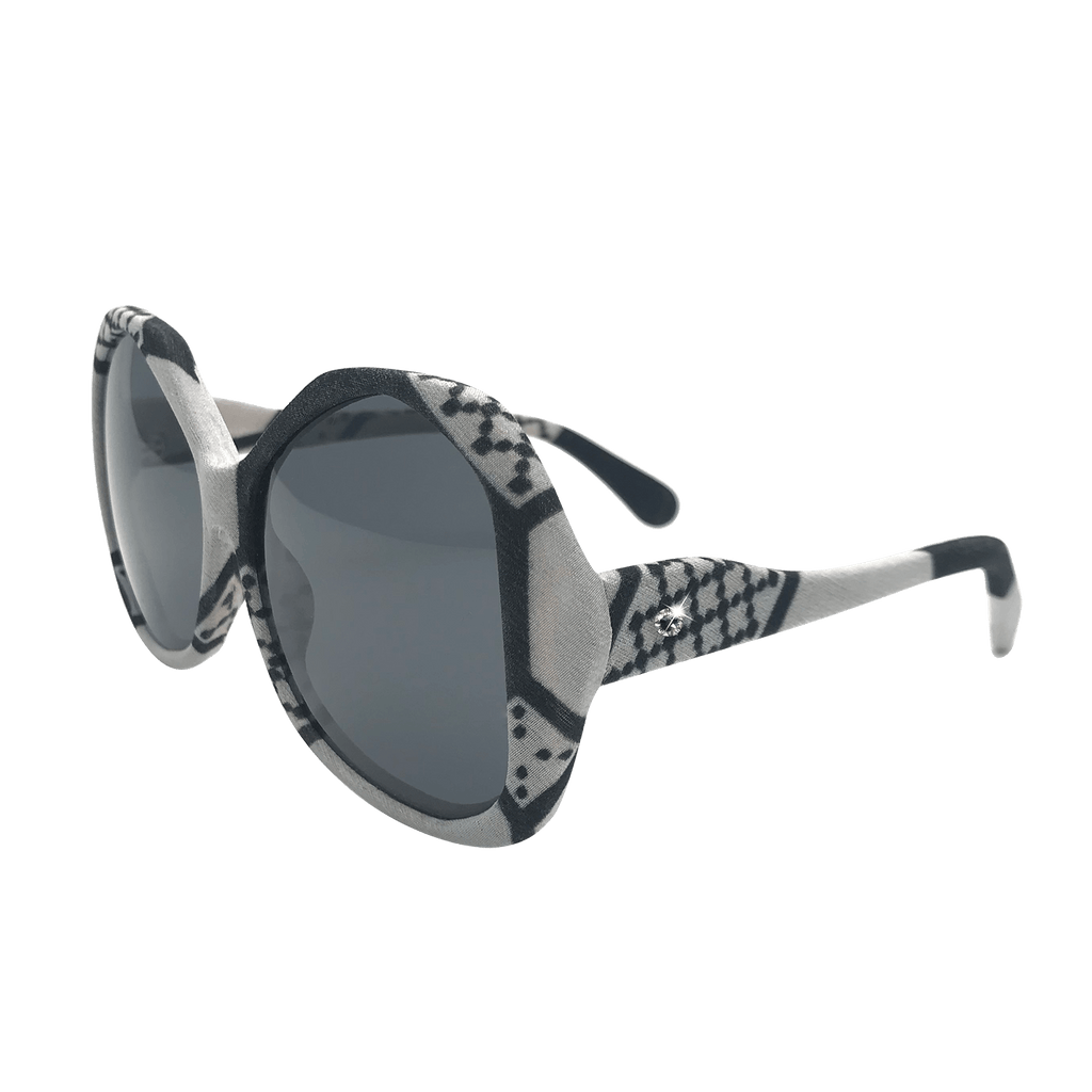【TILE】Hand-made 100% Silk-wrapped Sunglasses UV400 - THE SPARKLE COLLECTION by GERMAN POOL