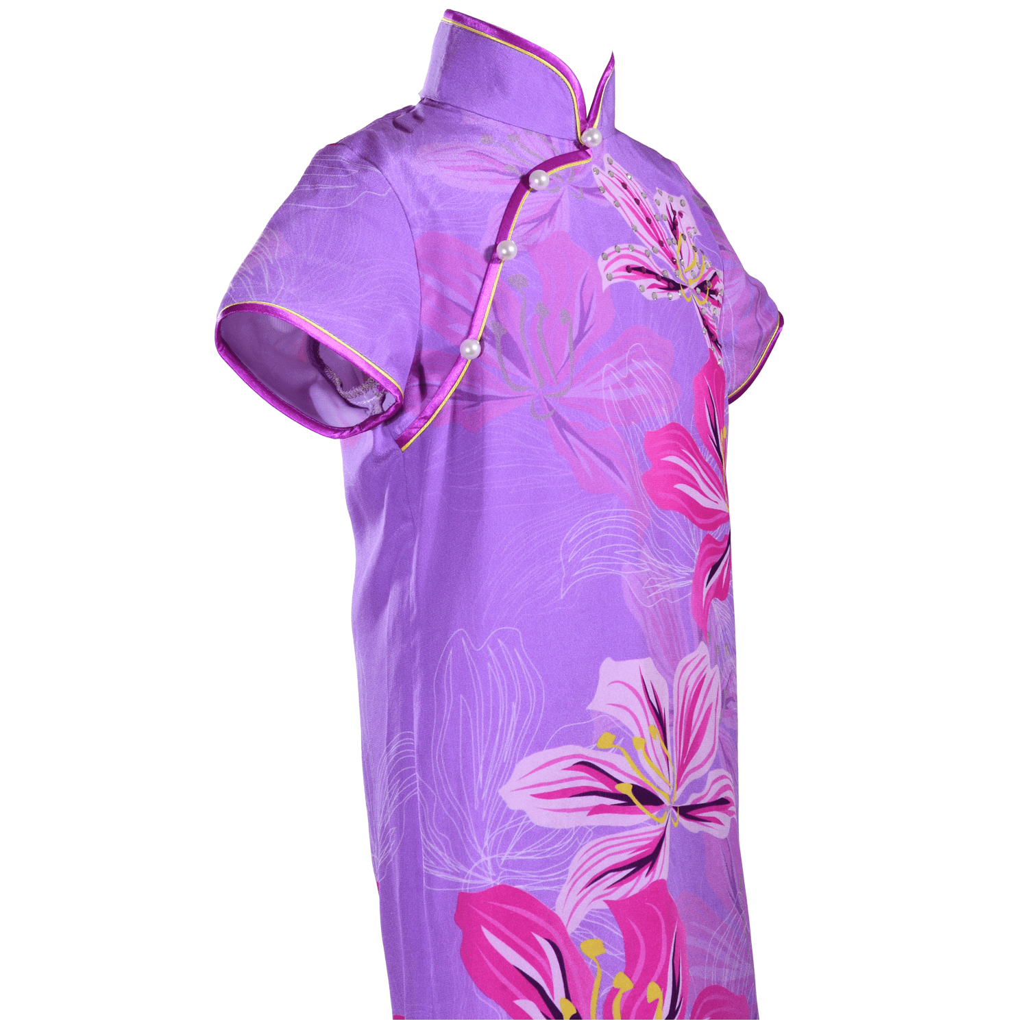 【BAUHINIA】KID 100% Silk Qipao with Crystals