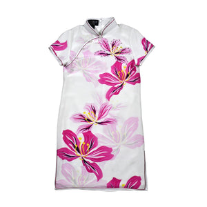 【BAUHINIA】100% Silk Cheongsam with Crystals-Junior - THE SPARKLE COLLECTION by GERMAN POOL