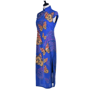 【BUTTERFLY】 100% Silk Crystal Qipao