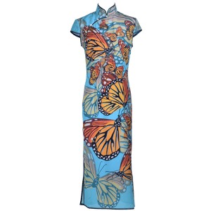 【BUTTERFLY】 100% Silk Crystal Cheongsam - THE SPARKLE COLLECTION by GERMAN POOL