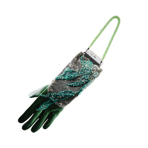 【COUTURE】 Lace Leather 2-way Glove-clutch with Strap and Swarovski® Crystals (1pc) - THE SPARKLE COLLECTION by GERMAN POOL