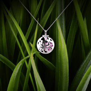 【FULL MOON】925 Sterling Silver Aromatherapy Locket with Crystal