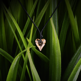【HEART】Heart-shape Swarovski® Crystal Pendant - Golden Shadow