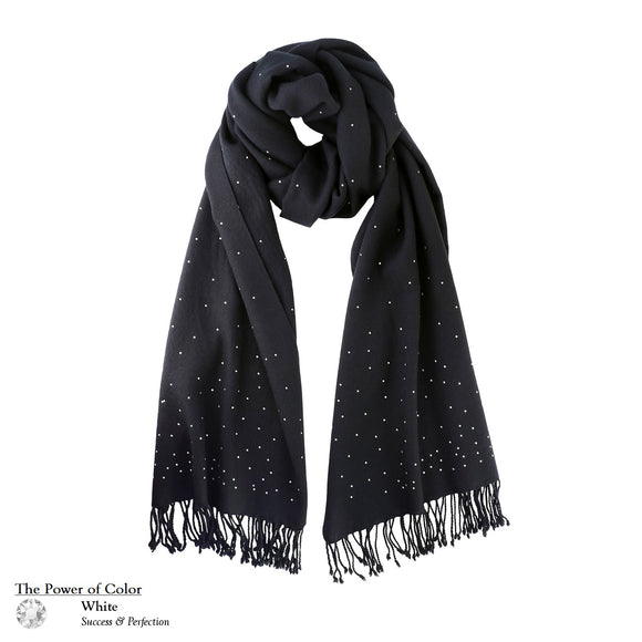 【THE STARRY SKY】100% Cashmere Scarf with Swarovski® Crystals