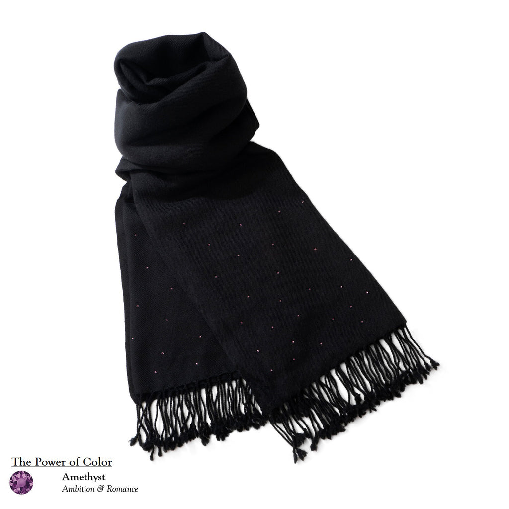 【THE STARRY SKY】100% Cashmere Scarf with Crystals