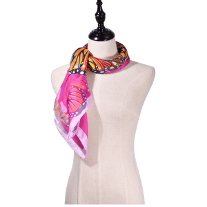 【BUTTERFLY】100% Silk Scarf with Crystals  - THE SPARKLE COLLECTION by GERMAN POOL