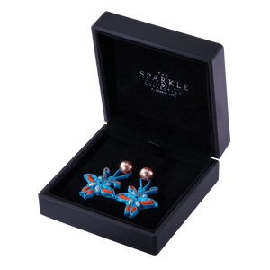 【BUTTERFLY】Handcrafted Flower Button Earrings - THE SPARKLE COLLECTION by GERMAN POOL