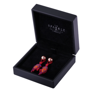 【LOVEBIRDS】Handcrafted Flower Button Earrings - THE SPARKLE COLLECTION by GERMAN POOL