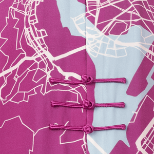 【MAP OF HK】100% Silk Tang Jacket-MEN - THE SPARKLE COLLECTION by GERMAN POOL