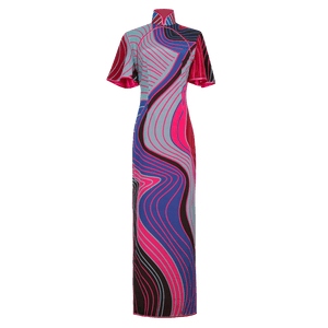 【CONTOUR】100% Silk Crystal Cheongsam - THE SPARKLE COLLECTION by GERMAN POOL