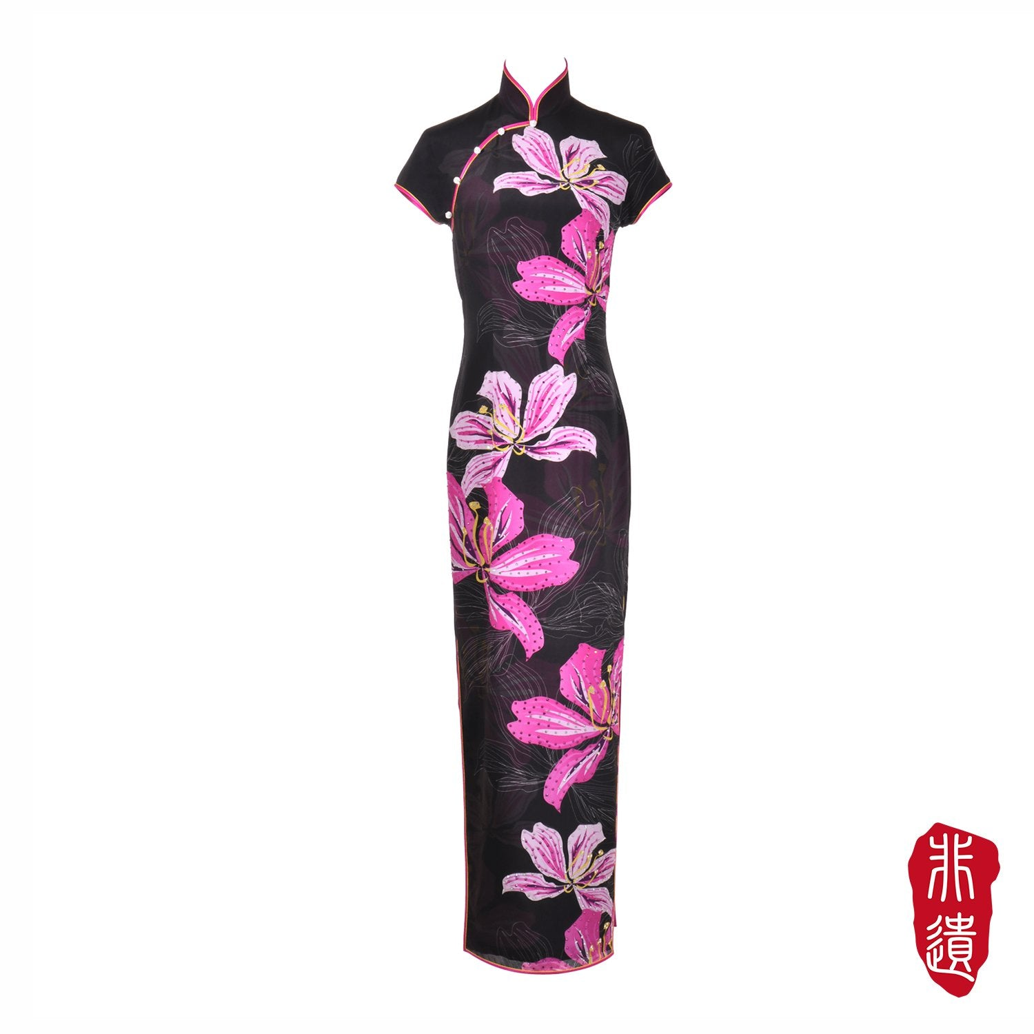 【BAUHINIA】Masterpiece Collection Haute Couture 100% Silk Crystal Cheongsam - THE SPARKLE COLLECTION by GERMAN POOL