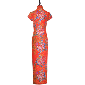 【PEONY】Masterpiece Collection Haute Couture 100% Silk Crystal Cheongsam