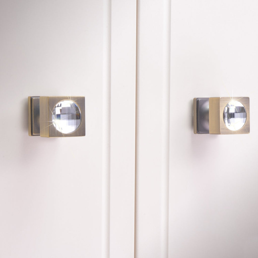 【DOTTY】 Bronze Knob and Handle with Swarovski® Crystal - THE SPARKLE COLLECTION by GERMAN POOL