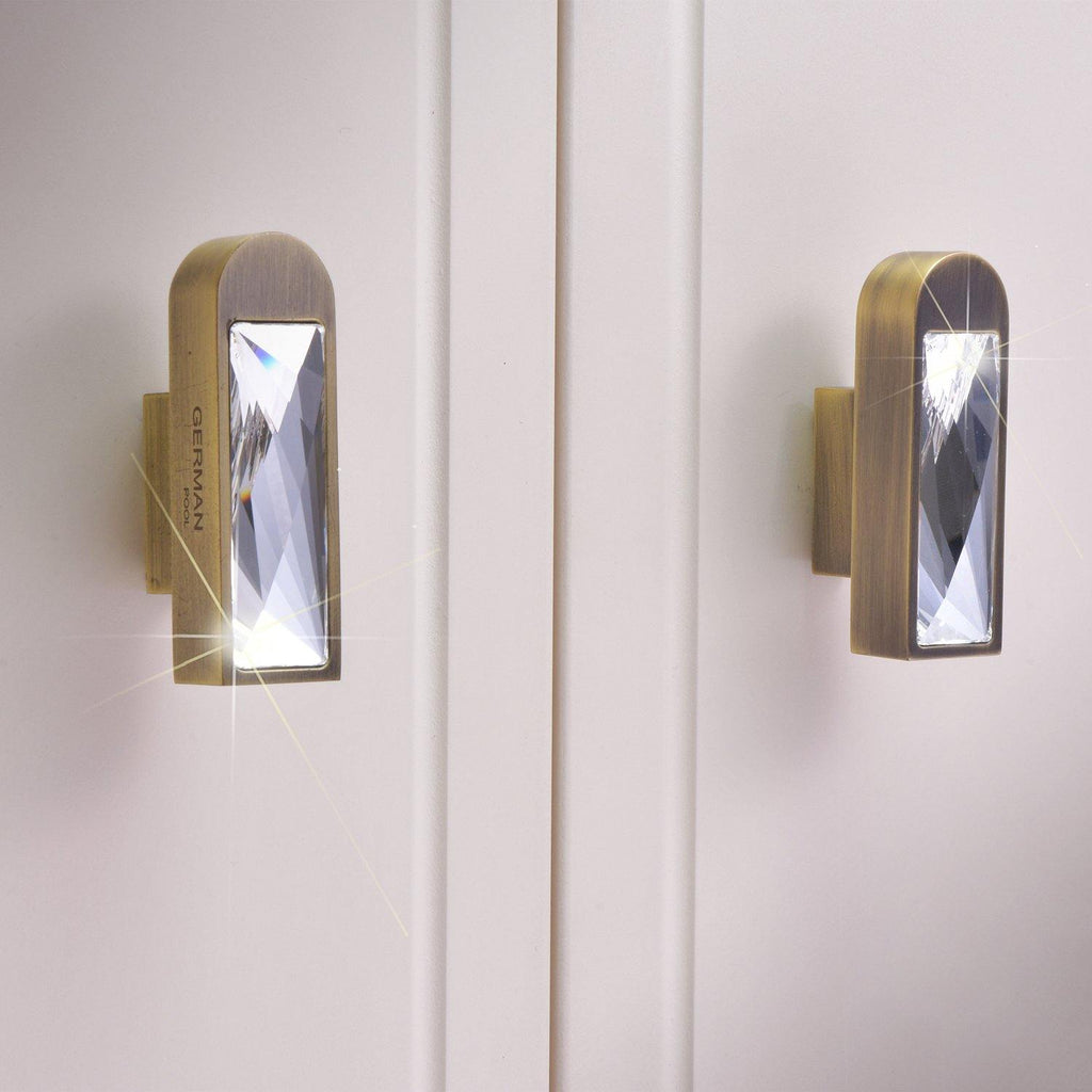 【MIYA】Bronze Knob and Handle with Swarovski® Crystal - THE SPARKLE COLLECTION by GERMAN POOL