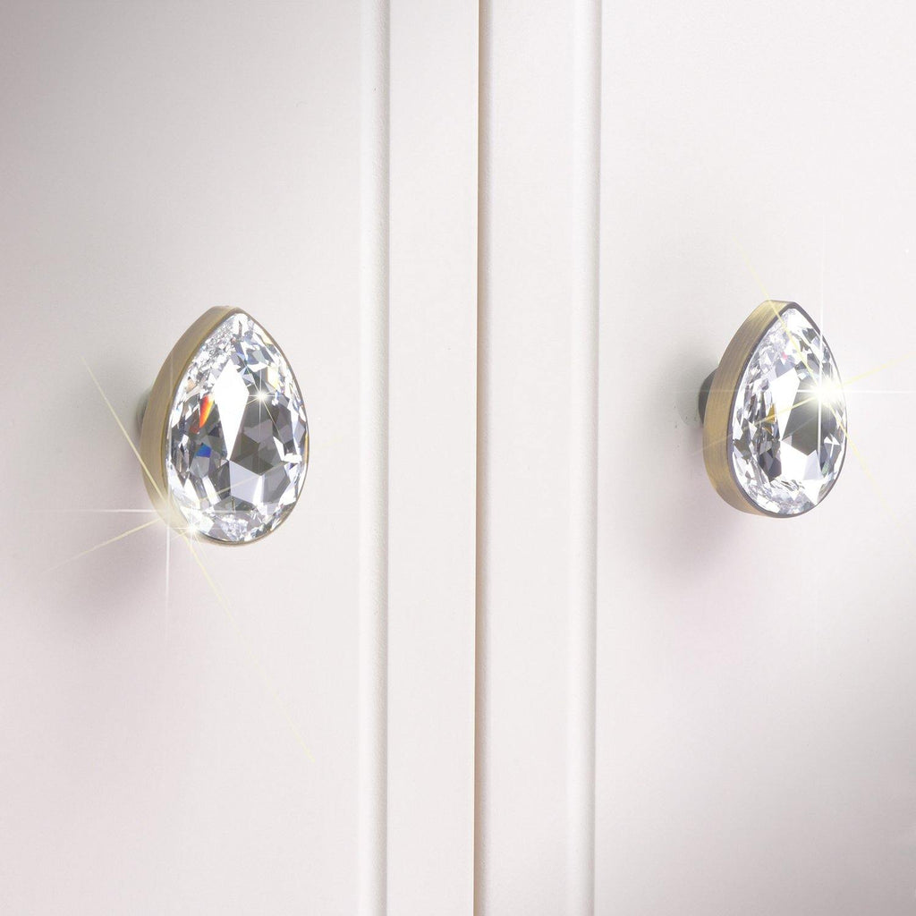 【PEARE】Bronze Knob and Handle with Swarovski® Crystal - THE SPARKLE COLLECTION by GERMAN POOL