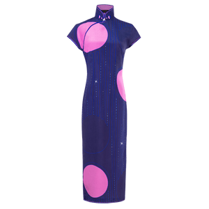 【PEARL OF HK】100% Silk Cheongsam - THE SPARKLE COLLECTION by GERMAN POOL