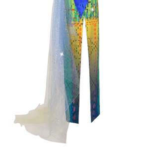【SUNSET SUNRISE】Haute Couture 100% Silk Crystal Evening Gown - THE SPARKLE COLLECTION by GERMAN POOL