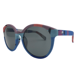 【HK SPIRIT】 Hand-made 100% Silk-wrapped Sunglasses UV400 - THE SPARKLE COLLECTION by GERMAN POOL