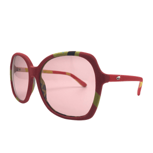 【BAMBOO】Hand-made 100% Silk-wrapped Sunglasses UV400 - THE SPARKLE COLLECTION by GERMAN POOL