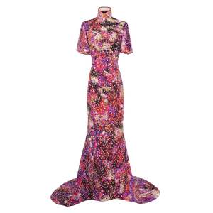 【GARDEN】100% Silk Crystal Cheongsam-Wedding Series - THE SPARKLE COLLECTION by GERMAN POOL