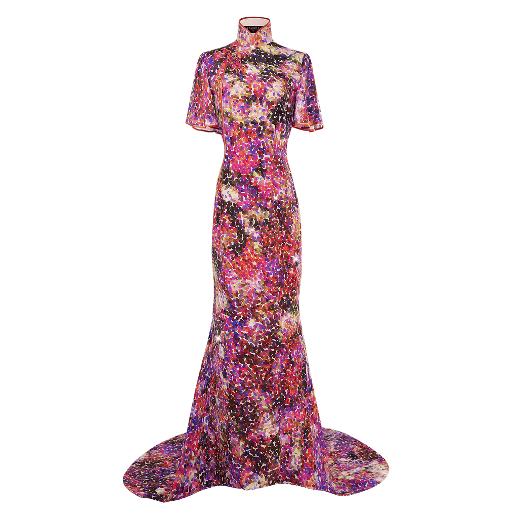 【GARDEN】100% Silk Cheongsam-Wedding Series - THE SPARKLE COLLECTION by GERMAN POOL