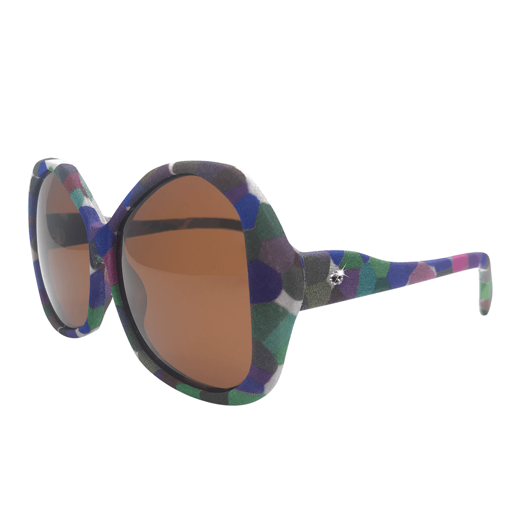 【GARDEN】Hand-made 100% Silk-wrapped Sunglasses UV400 - THE SPARKLE COLLECTION by GERMAN POOL