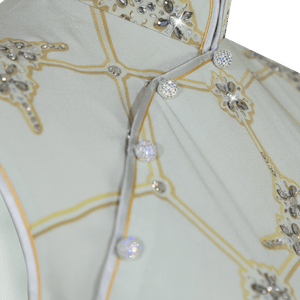 【SNOWFLAKE】Masterpiece Collection Haute Couture 100% Silk Crystal Wedding Cheongsam - THE SPARKLE COLLECTION by GERMAN POOL